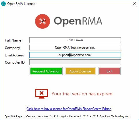 OpenRMA Activation Step2