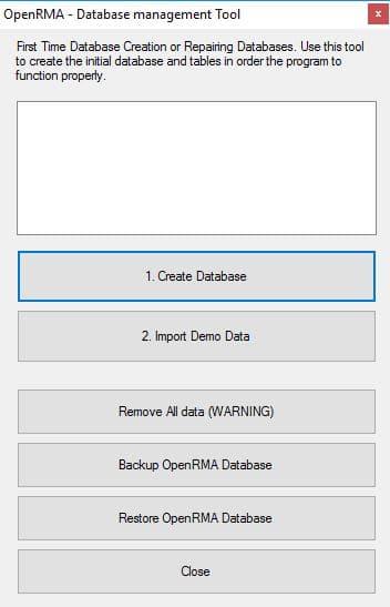 OpenRMADB